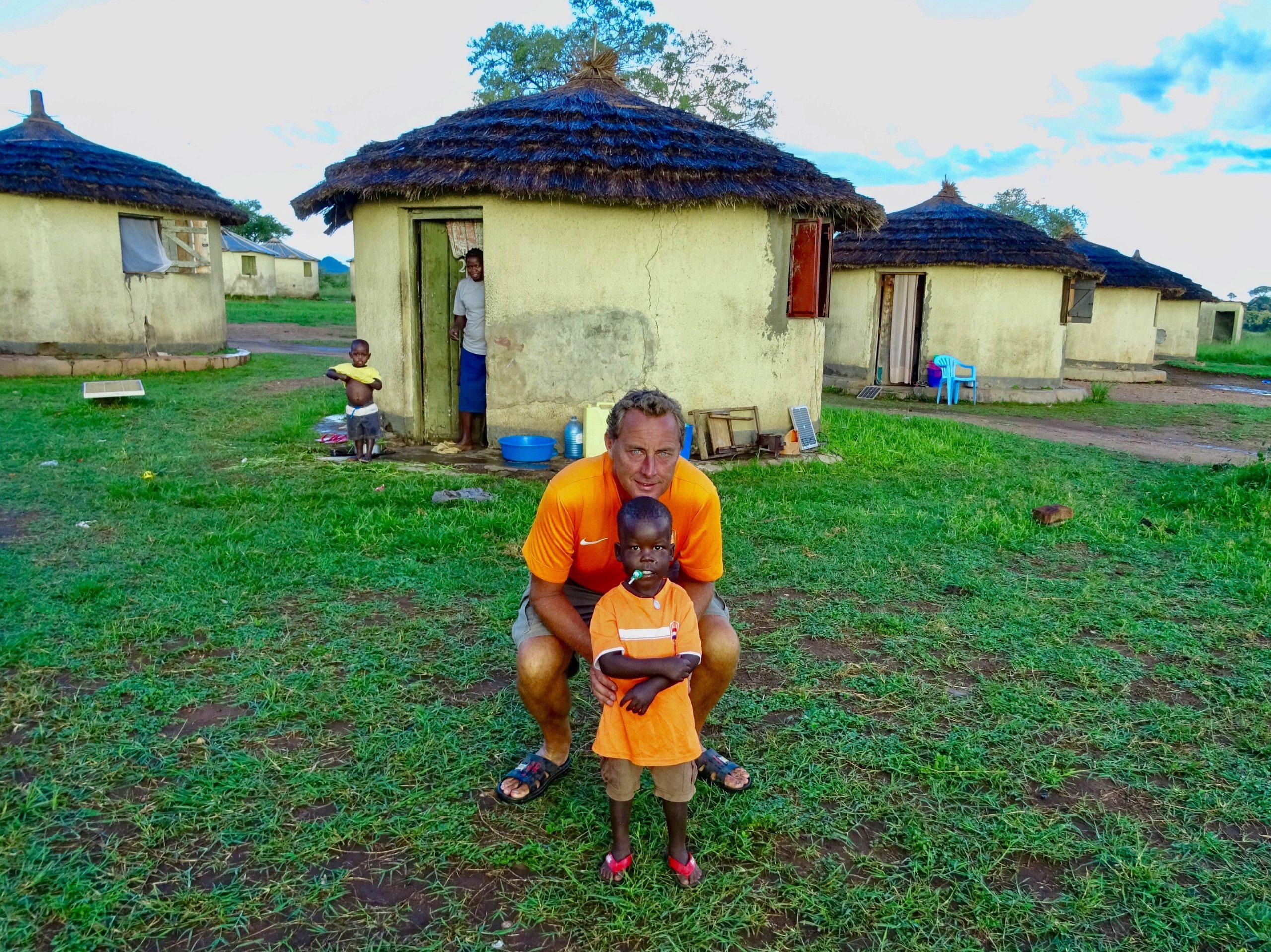 Mandela en ik in Oranje in het apoka kamp