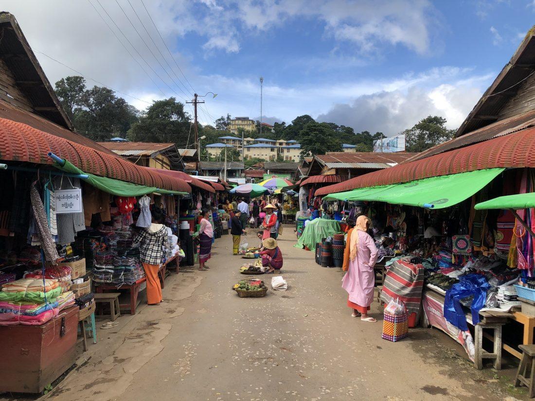 Lokale markt in Kalaw