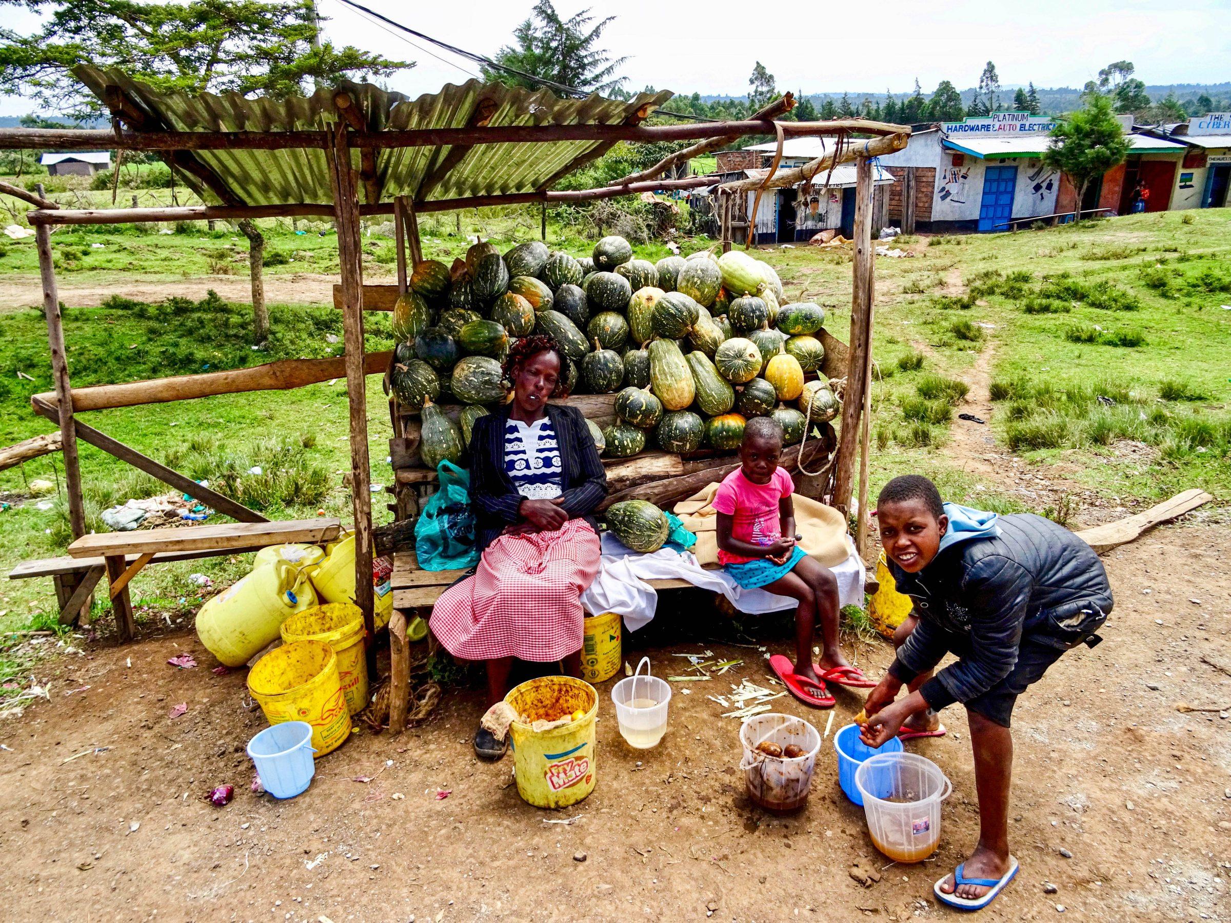 Meloenenverkopers in Chebole