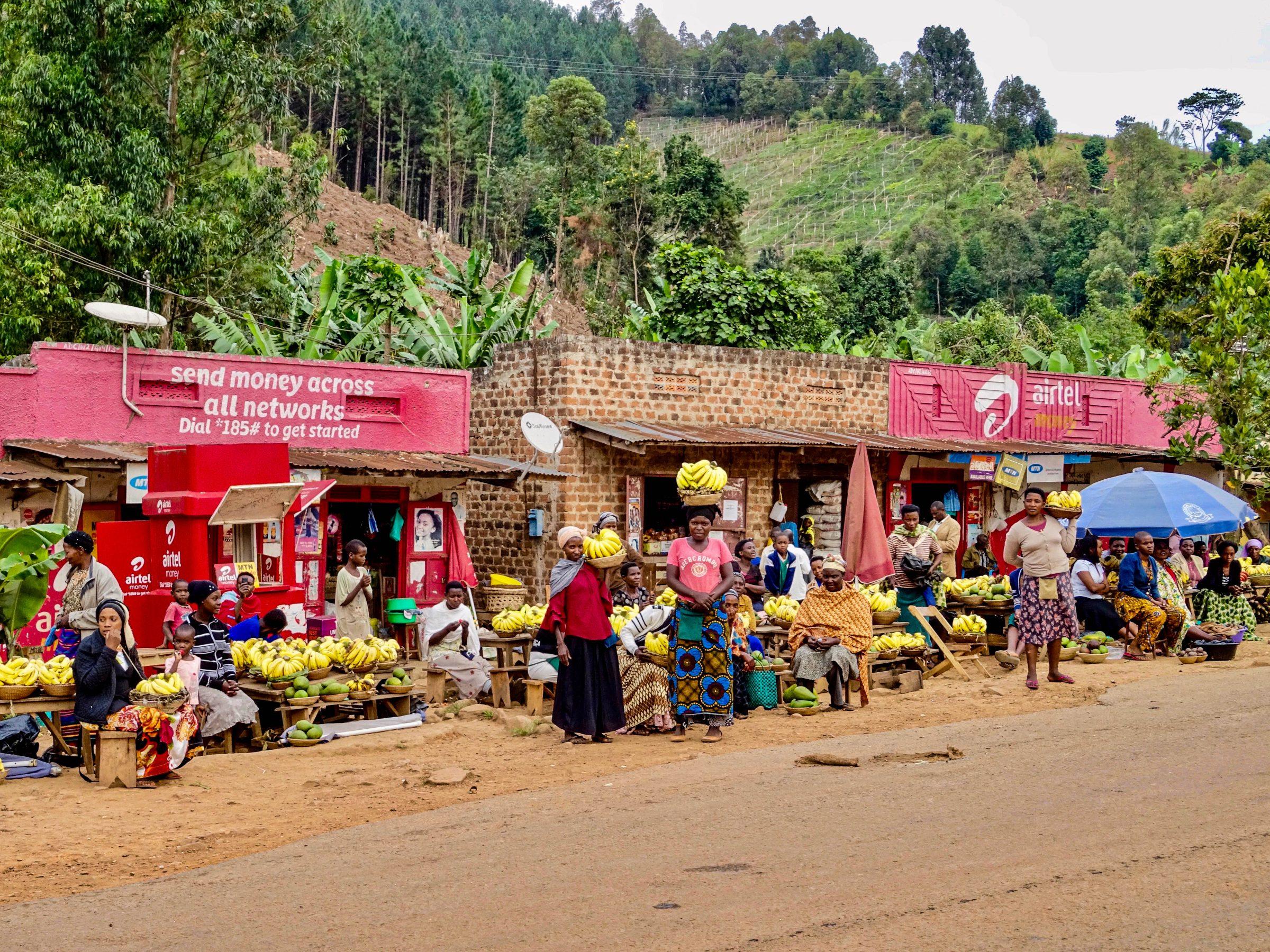 Oegandese bananenbluesbrigade in Kichwamba