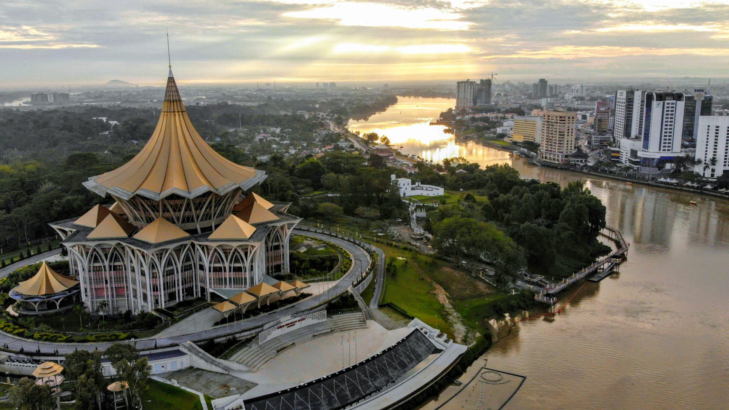 Overheidsgebouw in Kuching, Sarawak, Maleisië
