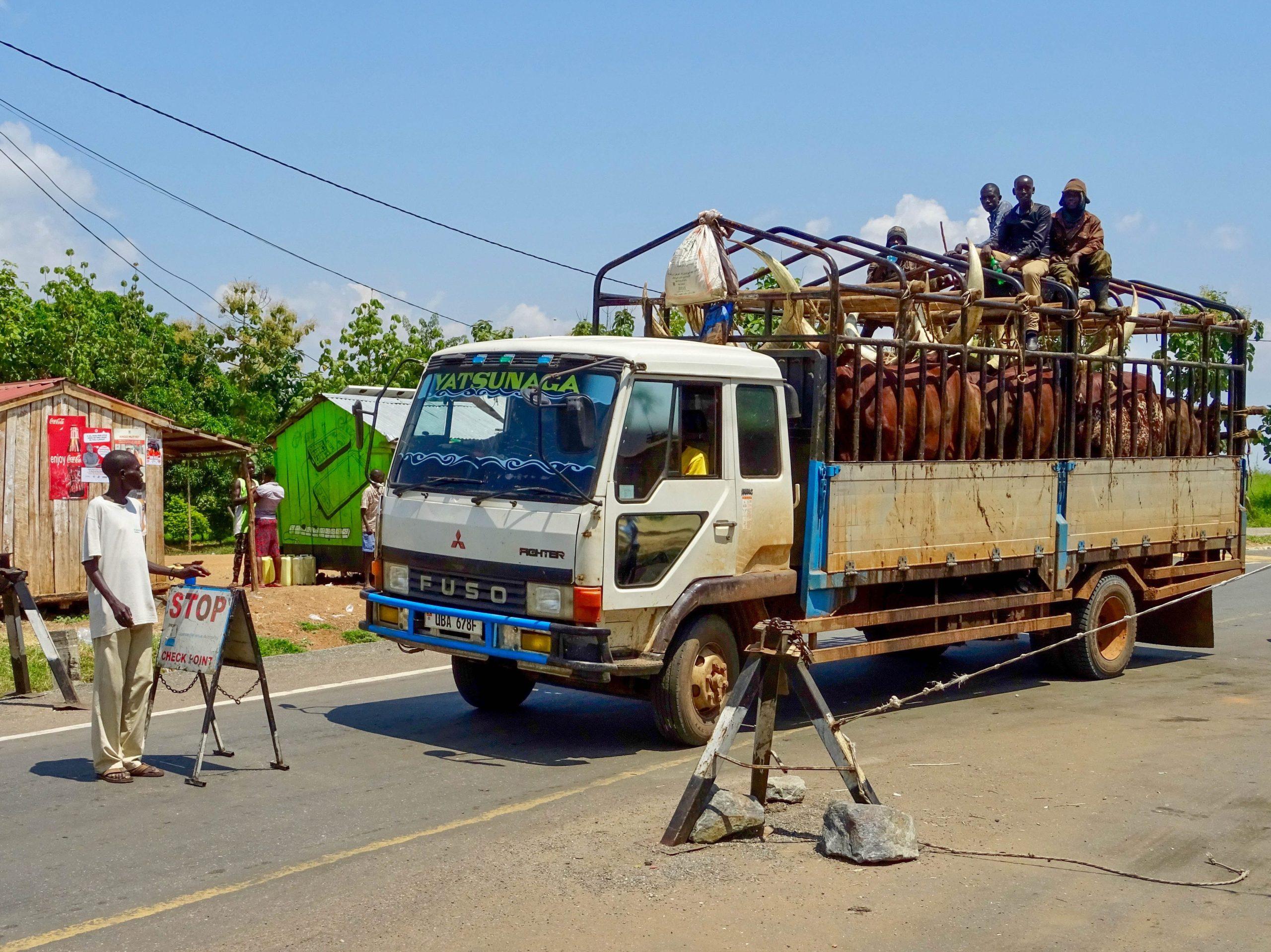 Roadblock bij Pakwach
