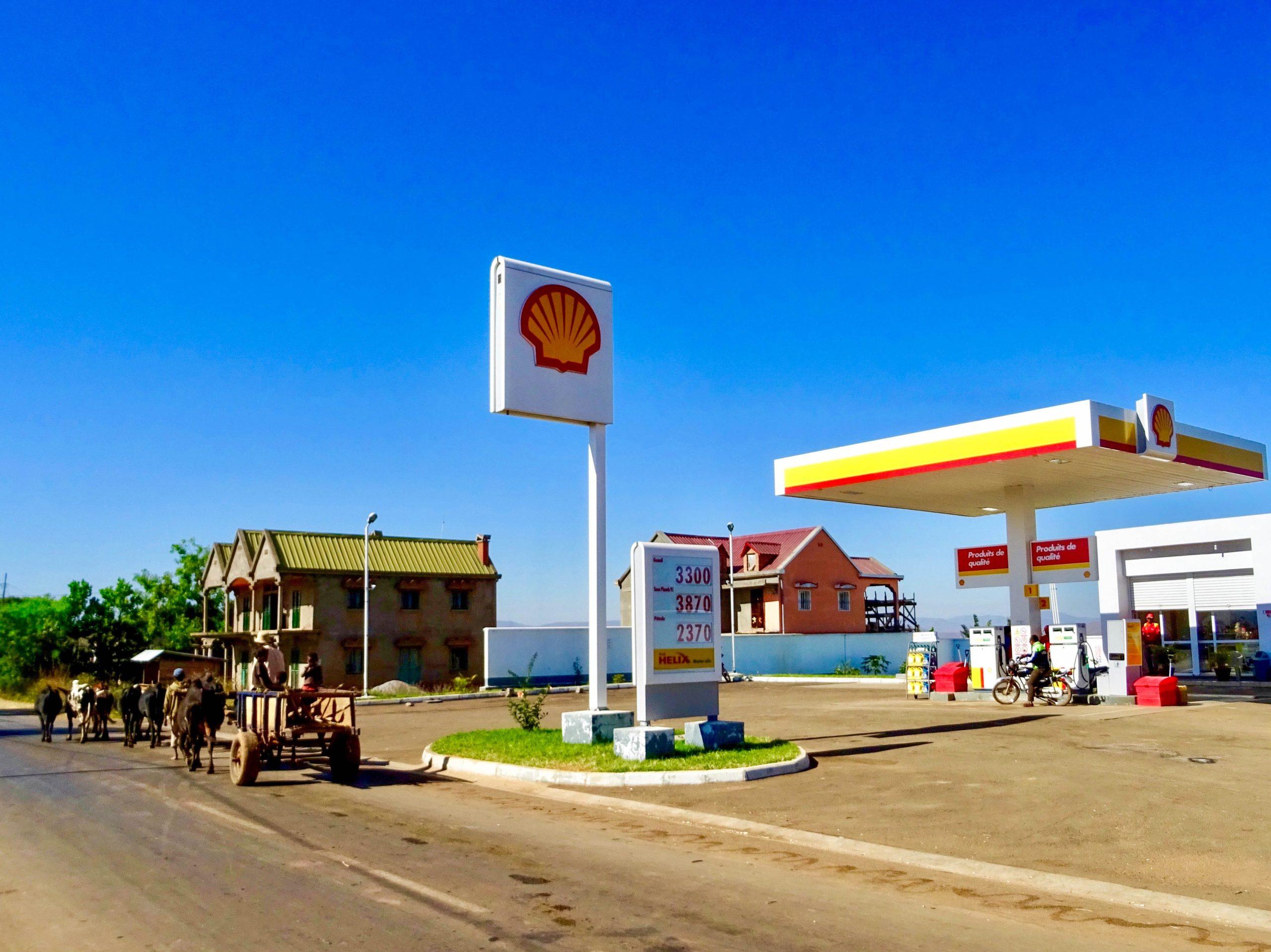 Shell station op 157 km van Miandrivazo