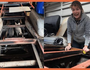 Brandweerbus ombouwen | Een vloer leggen in onze camperbus Brumm!