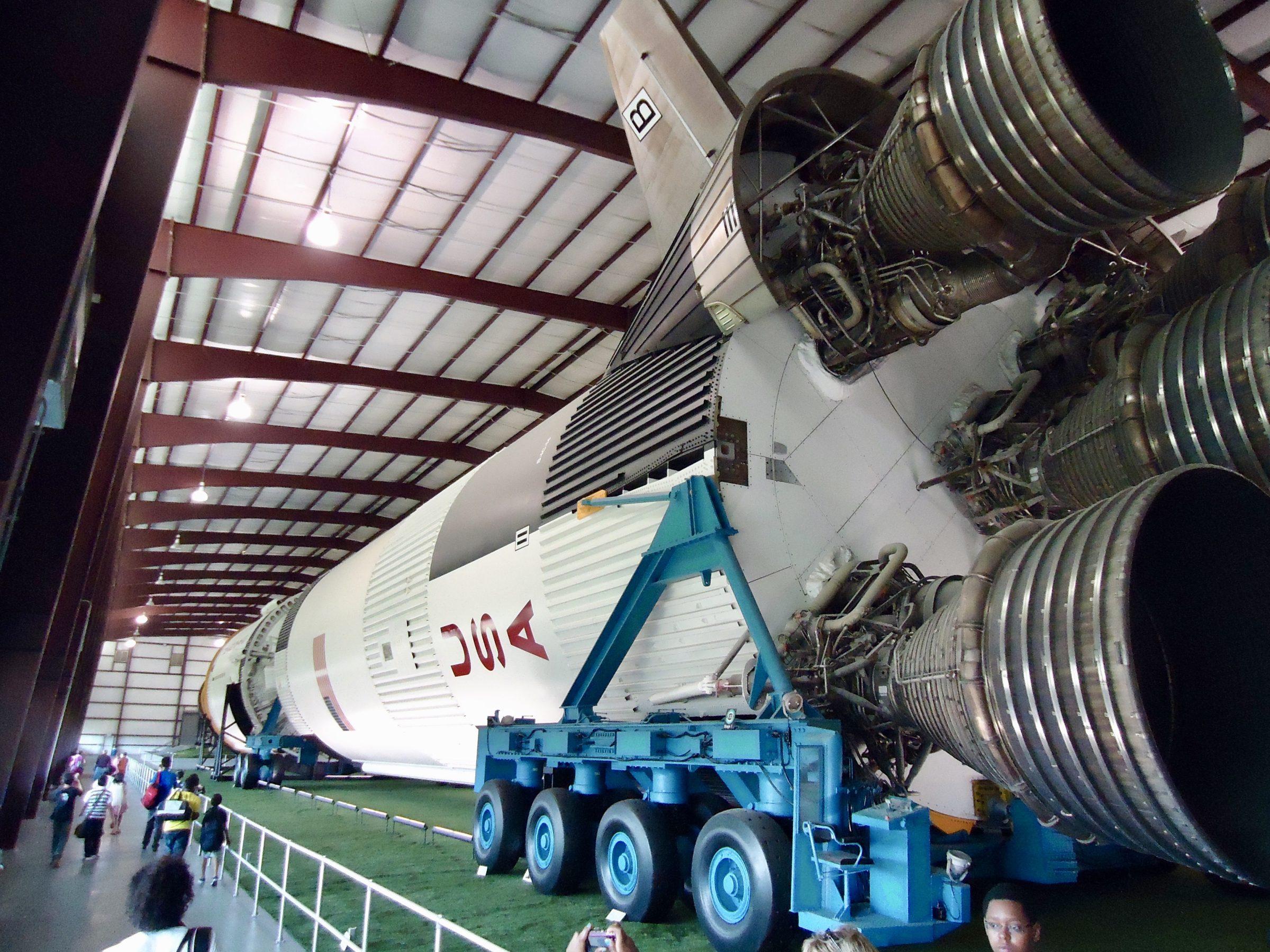 Een replica op waar formaat in Space Center Houston