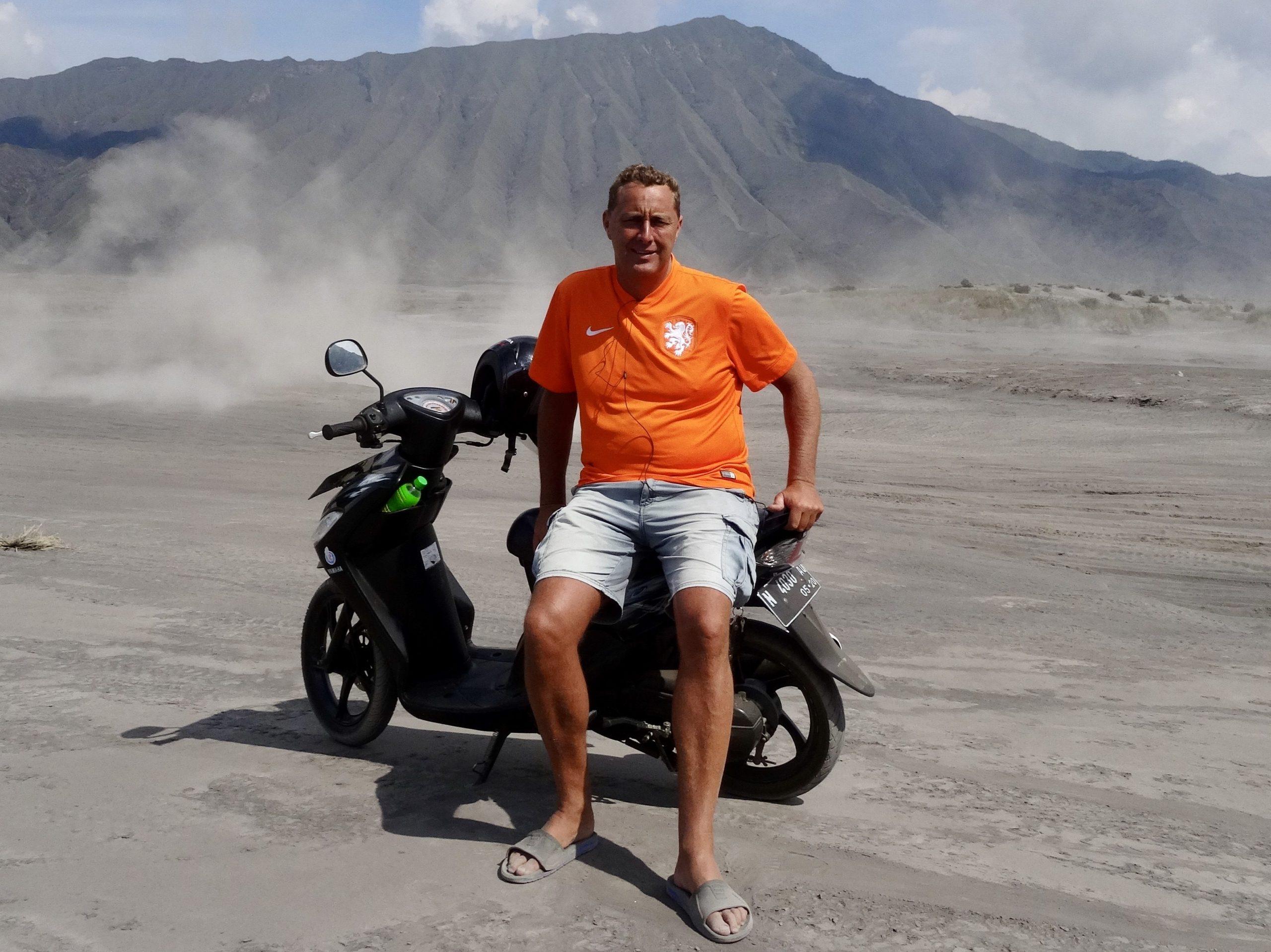 Scooter Bromo vulkaan, Java