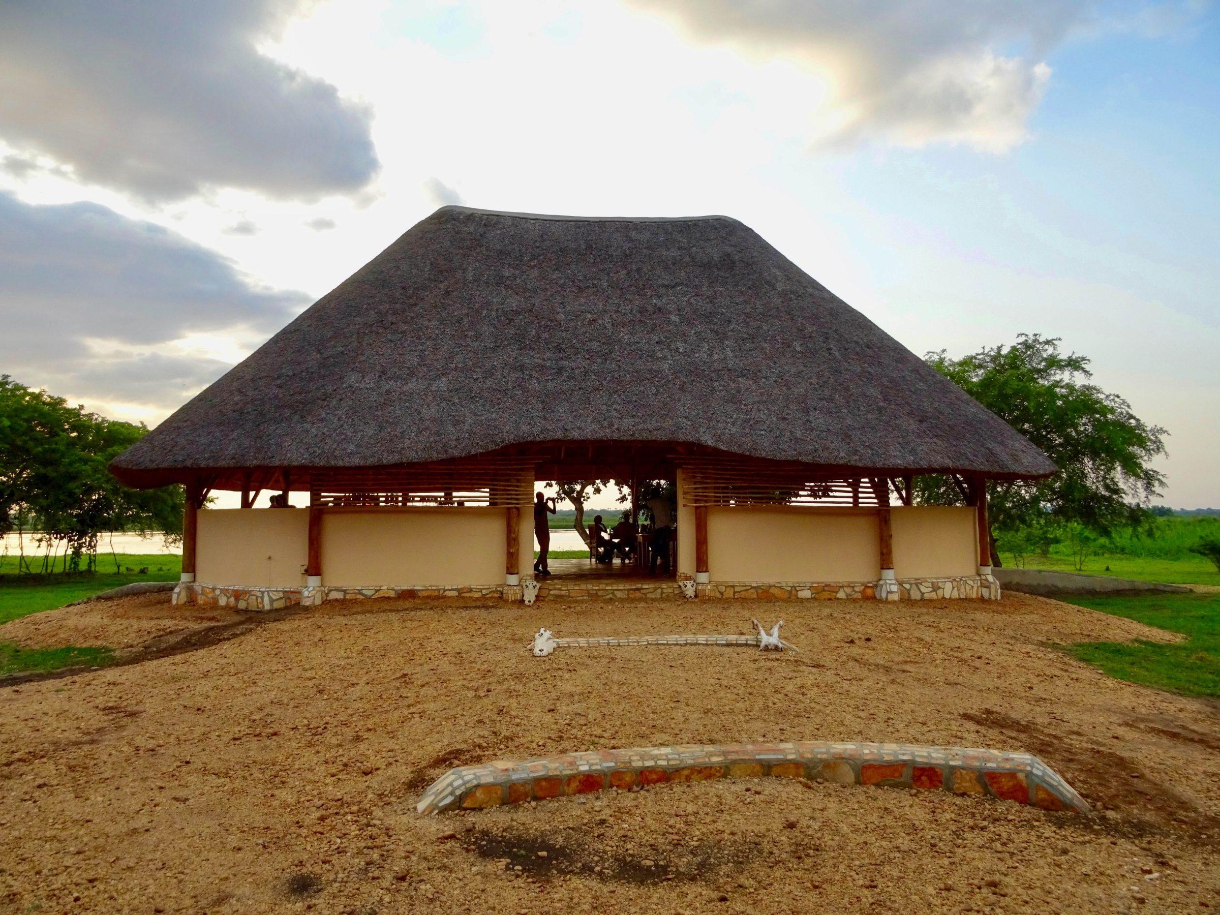 Het restaurant van Murchison Treehouse aan de Nijl