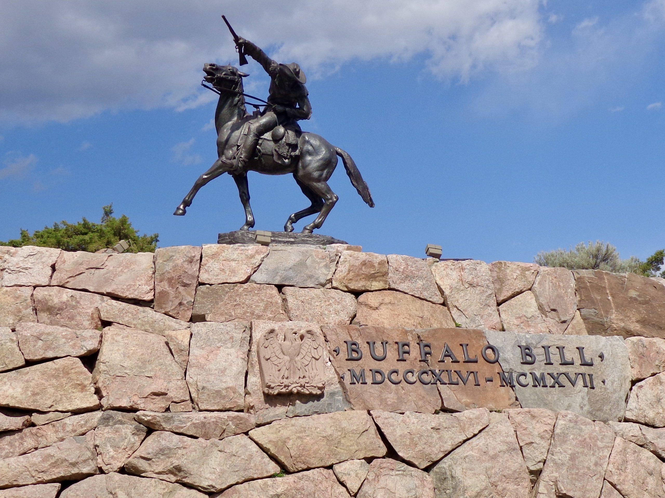 Standbeeld Buffalo Bill in Cody, Wyoming