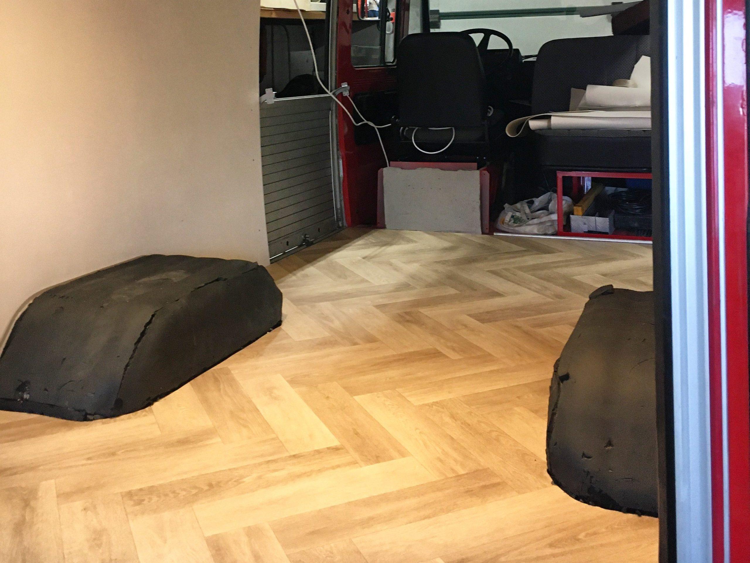 Het eindresultaat van de vloer