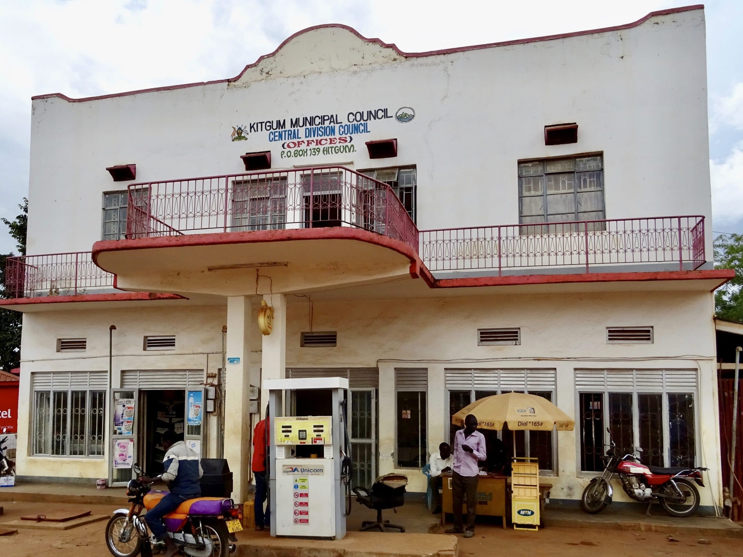Het bescheiden stadhuis van Kitgum