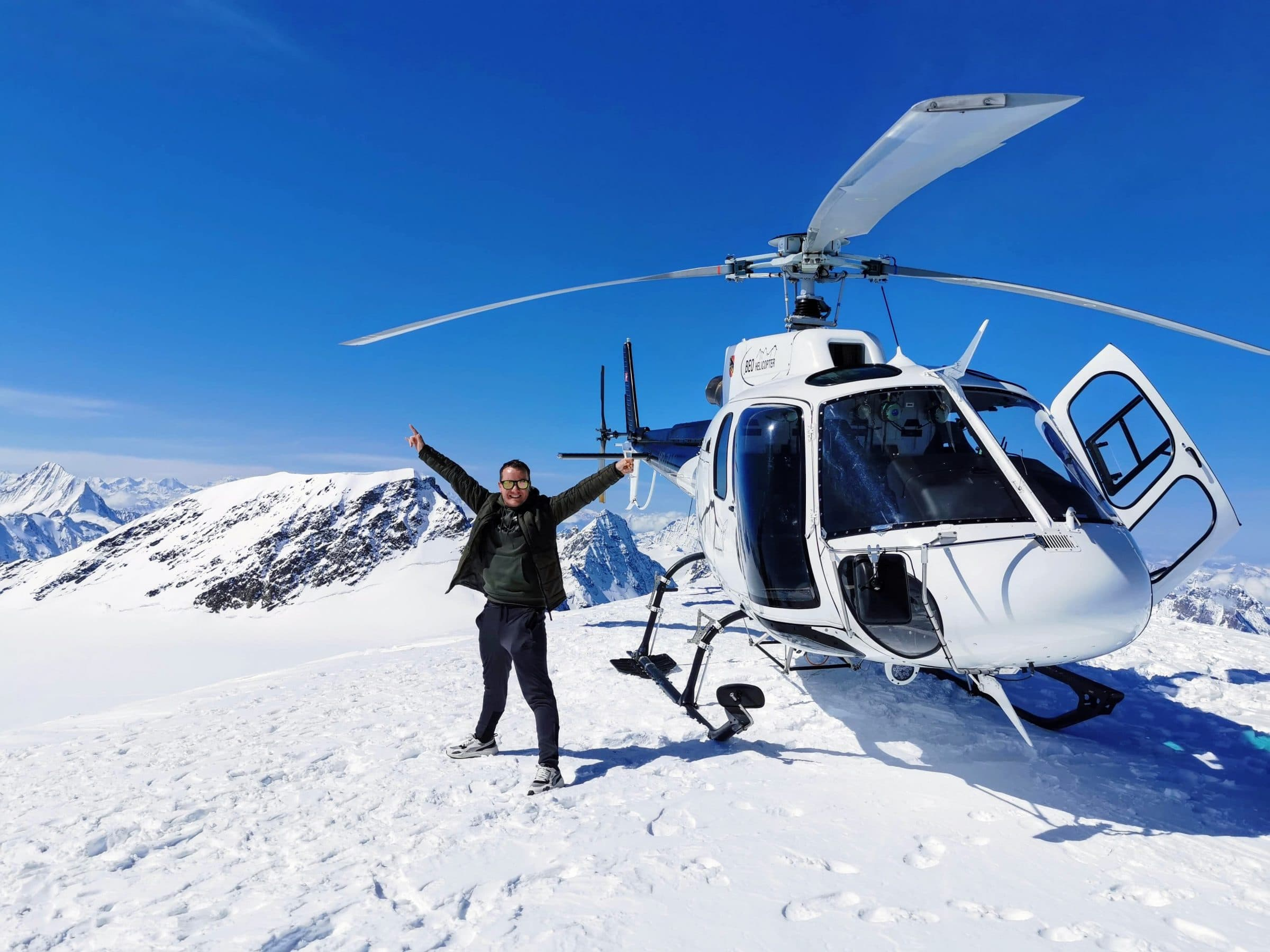 The happiest man on earth | We zijn geland op de Eiger Gletsjer