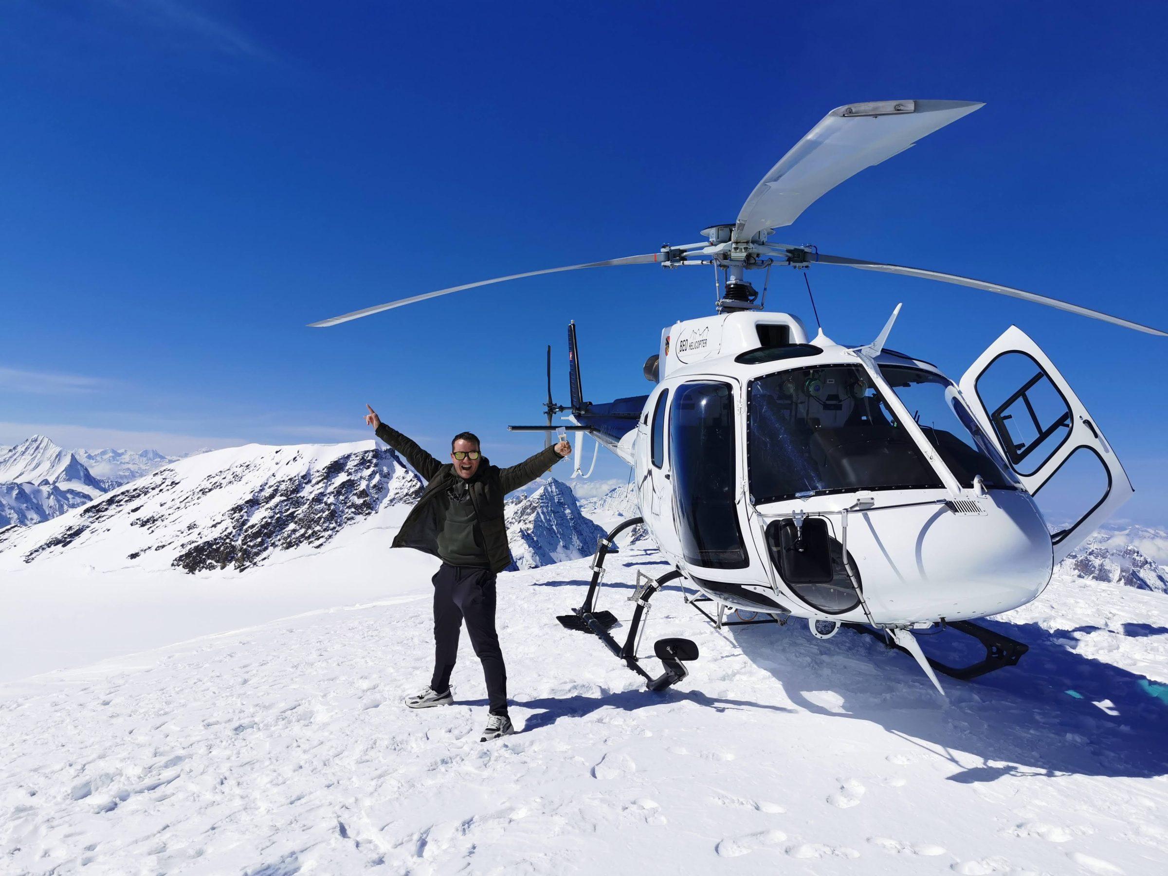Helicoptervlucht vanuit Lauterbrunnen of Interlaken