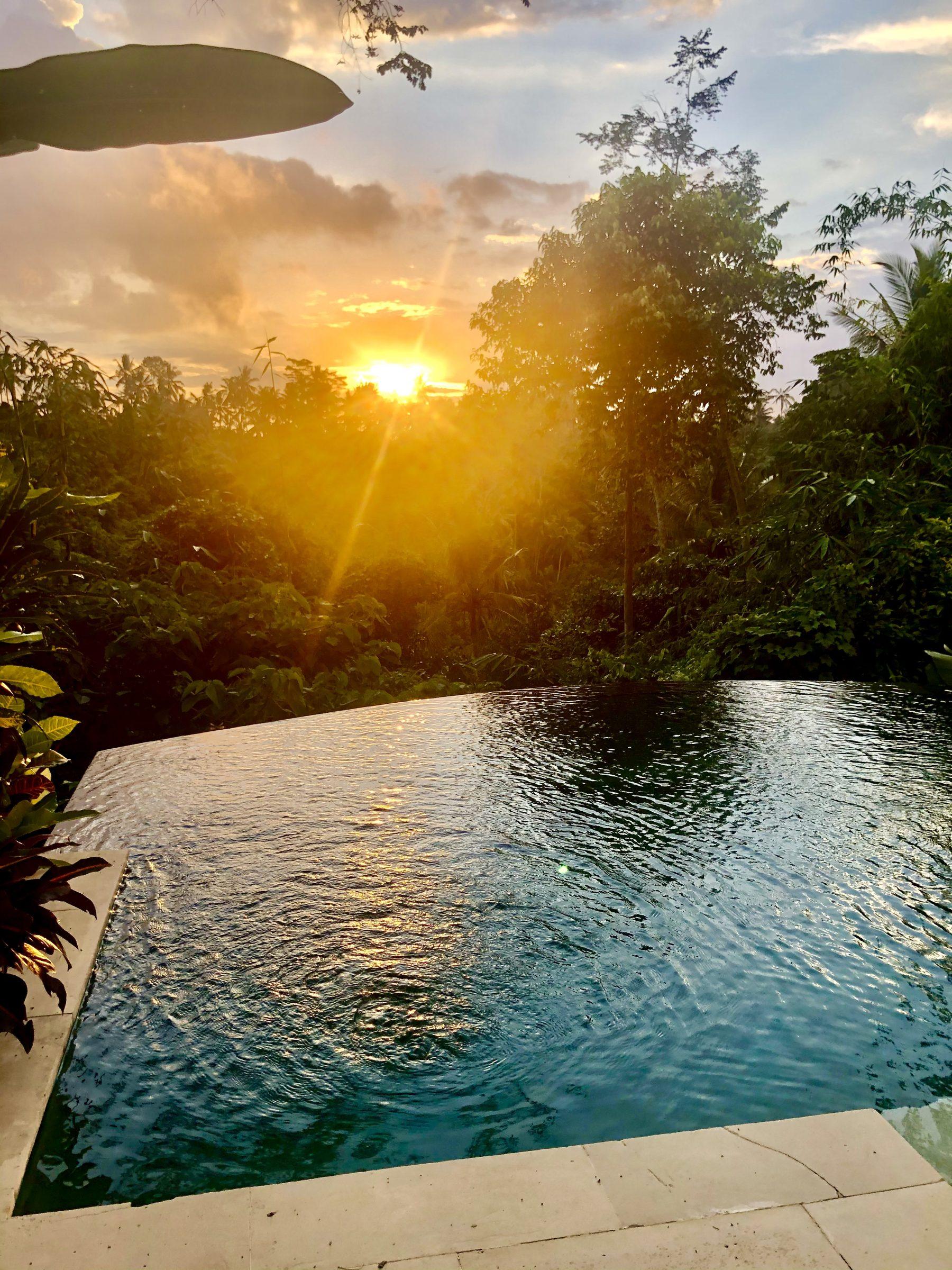 Zonsondergang in Ubud