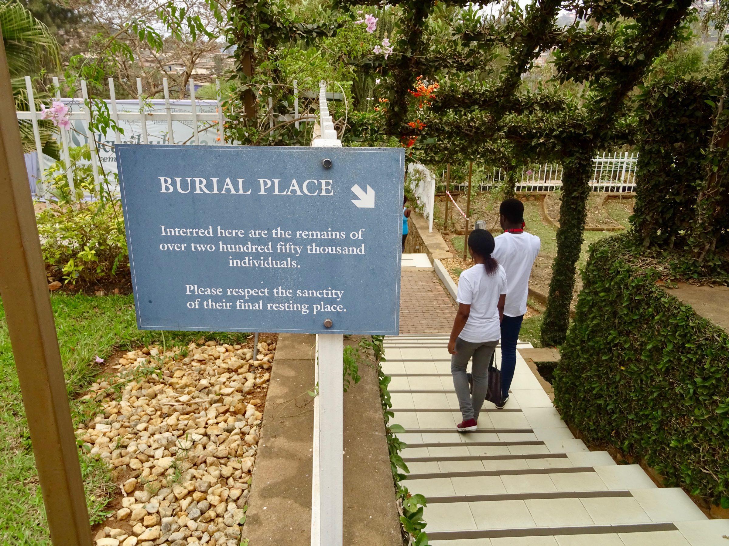 Begraafplaats van het Genocide Museum in Kigali