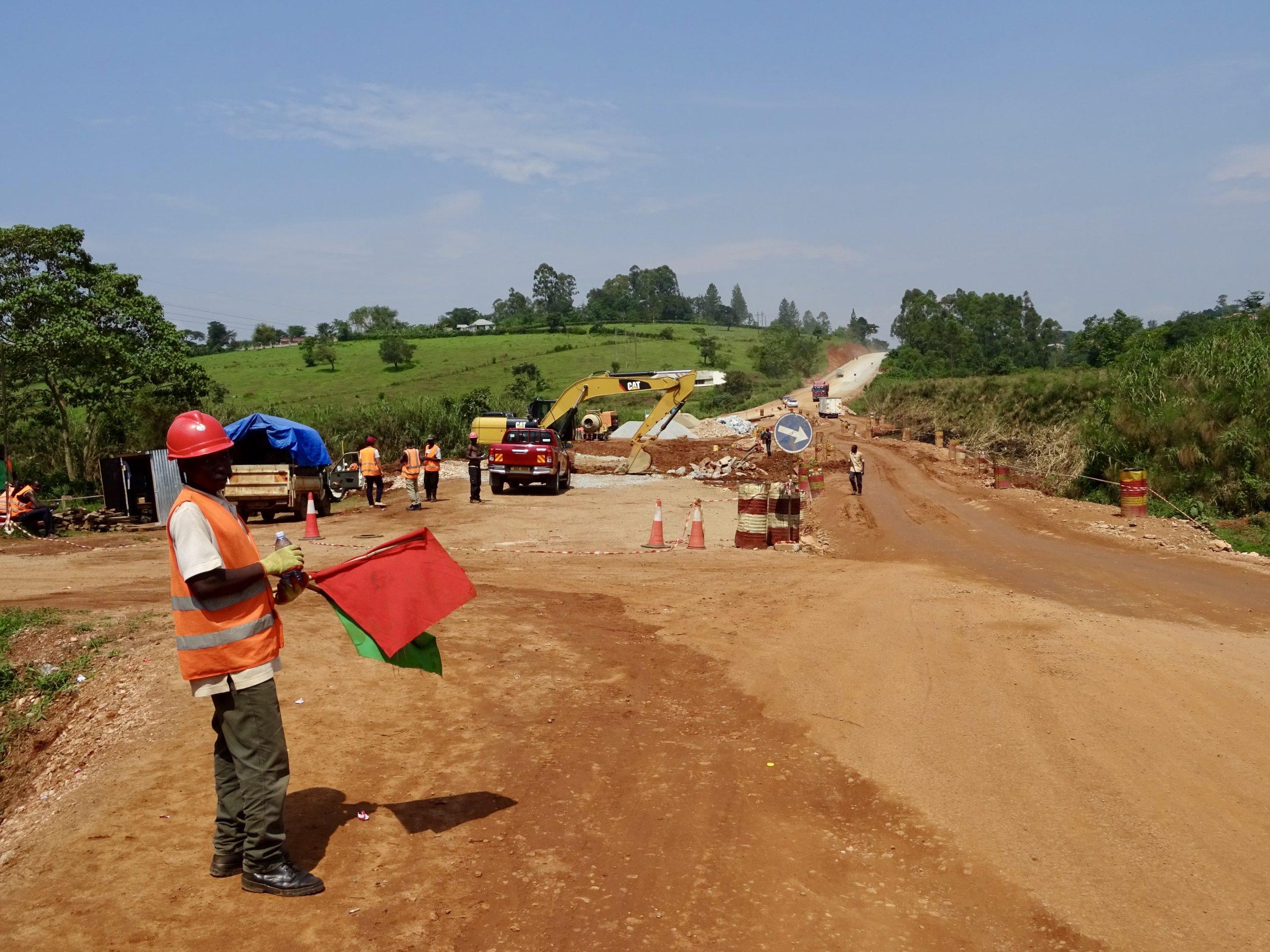 Wegwerkzaamheden op de A109 richting Rugombe