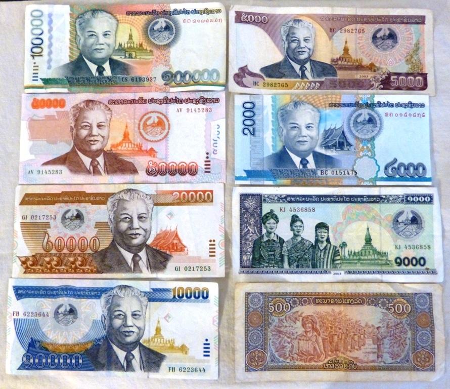 De munteenheid in Laos: LAK, oftewel de LAOS KIP