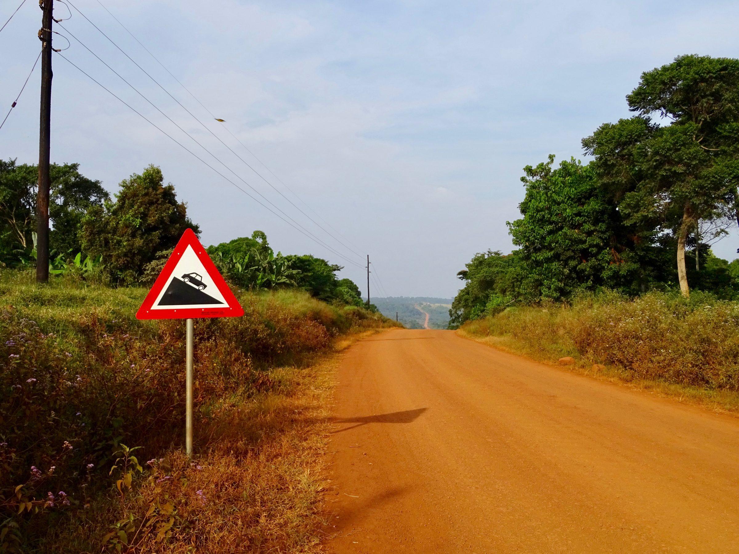 De weg van Luku naar Kalangala, Bugala Island