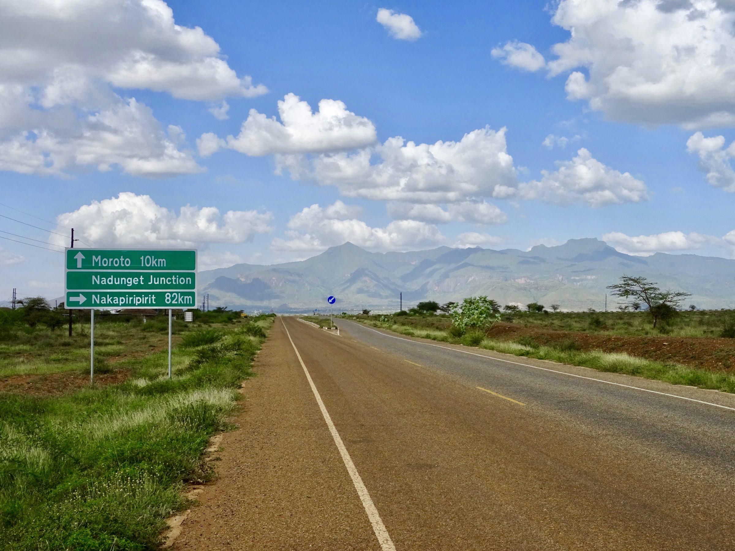 Nog 10 kilometer naar Moroto