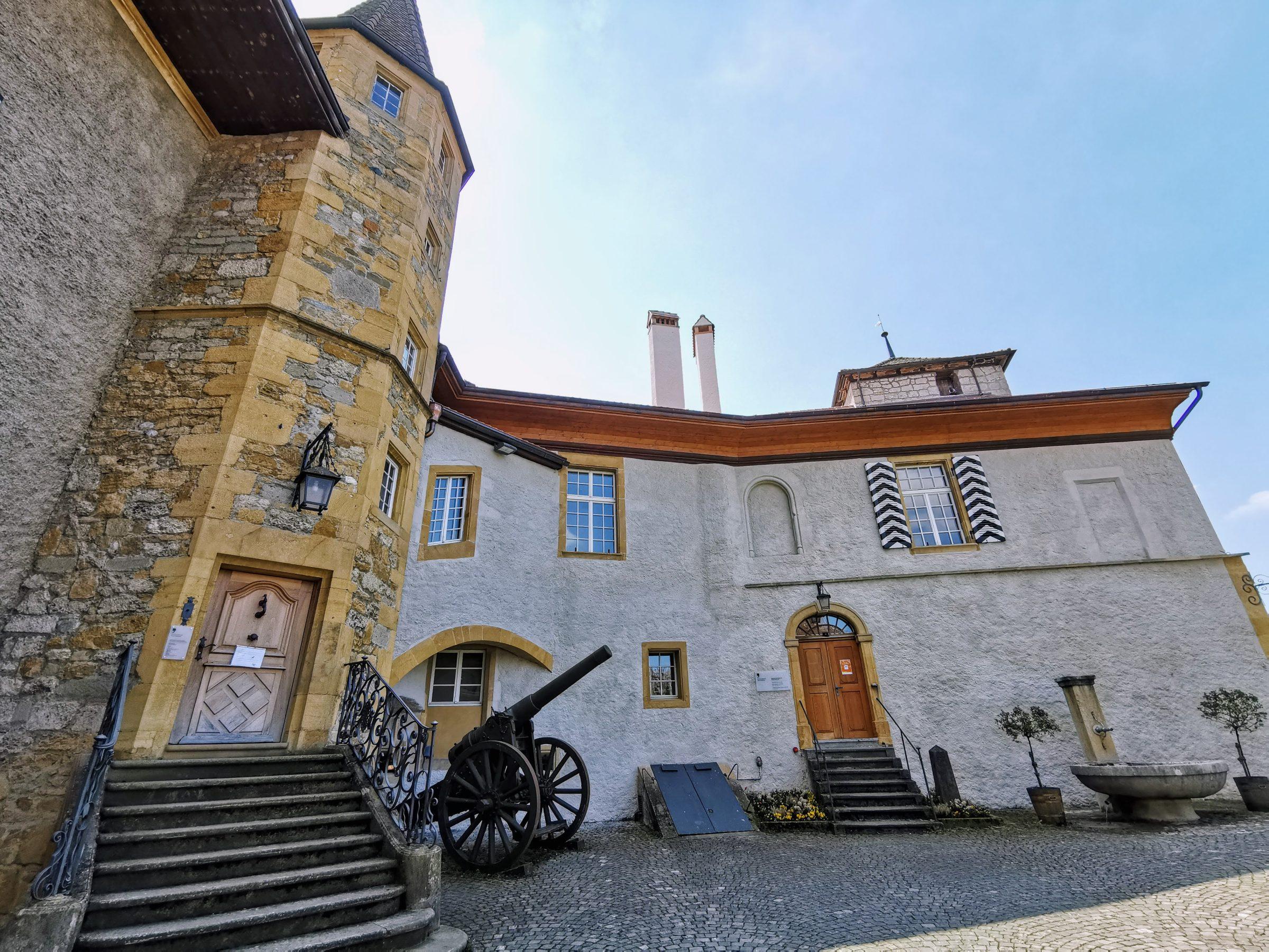 Een deel van het oude kasteel van Murten