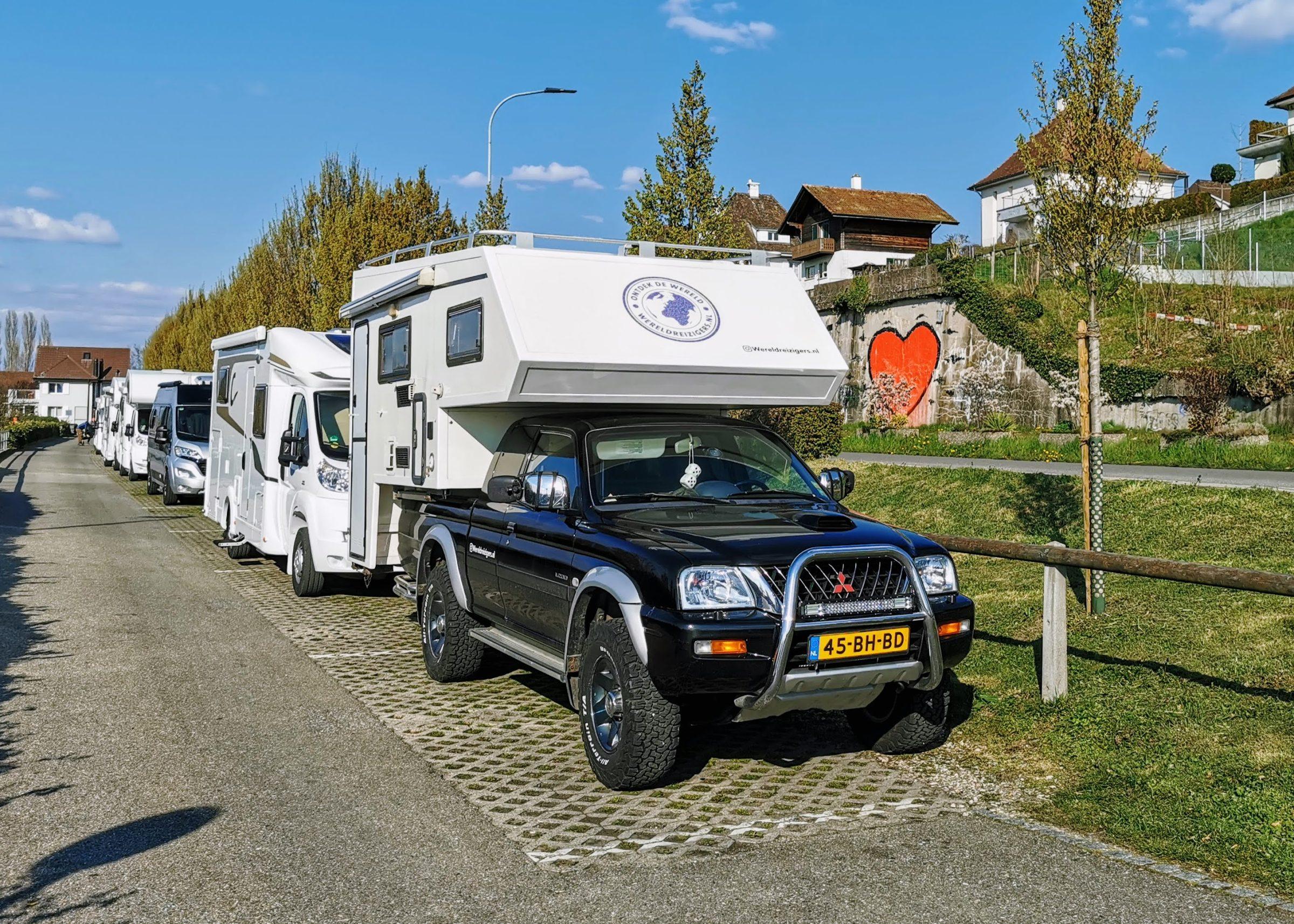 De camperplaats in Murten