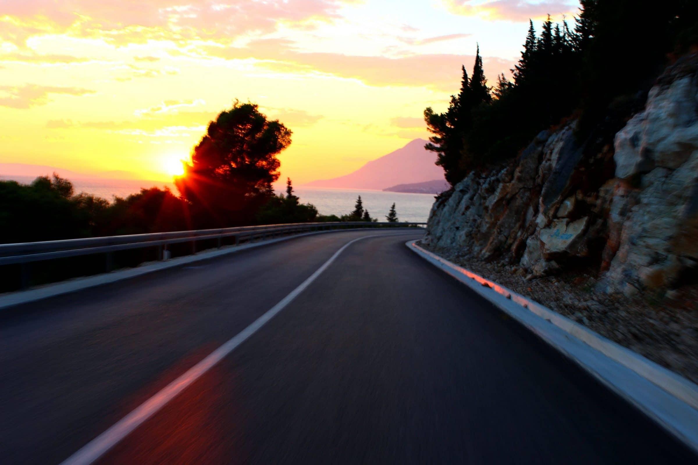 Onderweg naar de camping in Kroatië