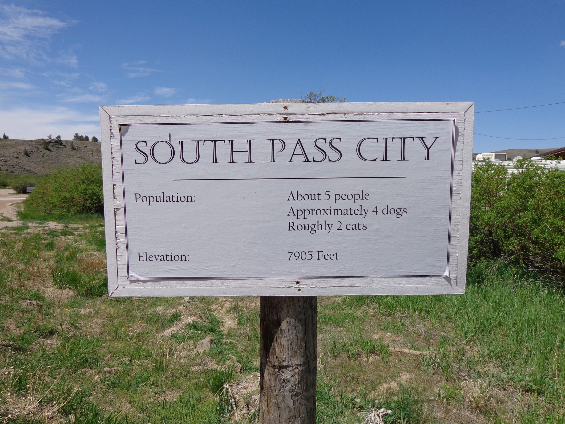 Welkom in South Pass 'City'