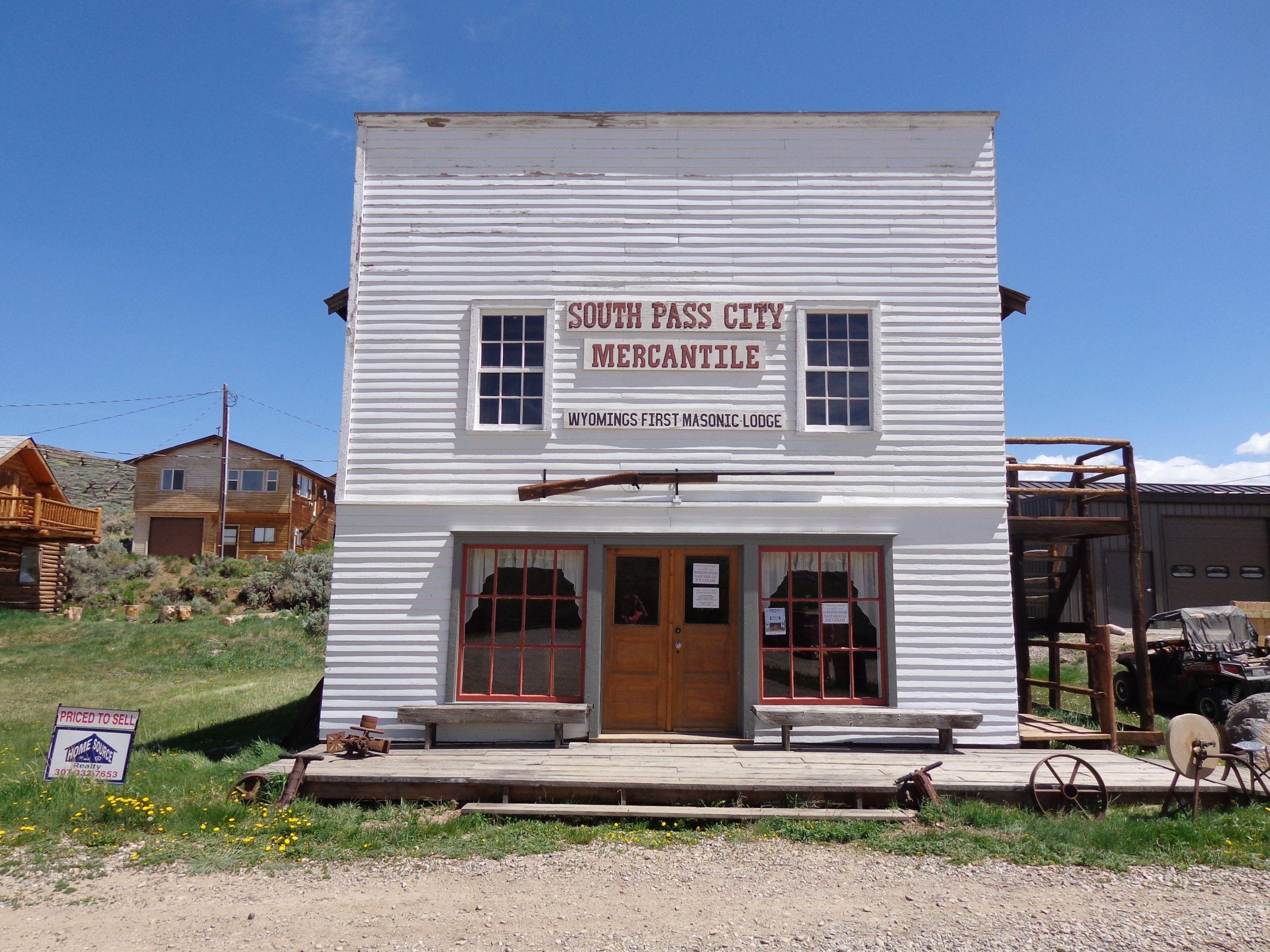 De lodge van vrijmetselaars in South Pass City