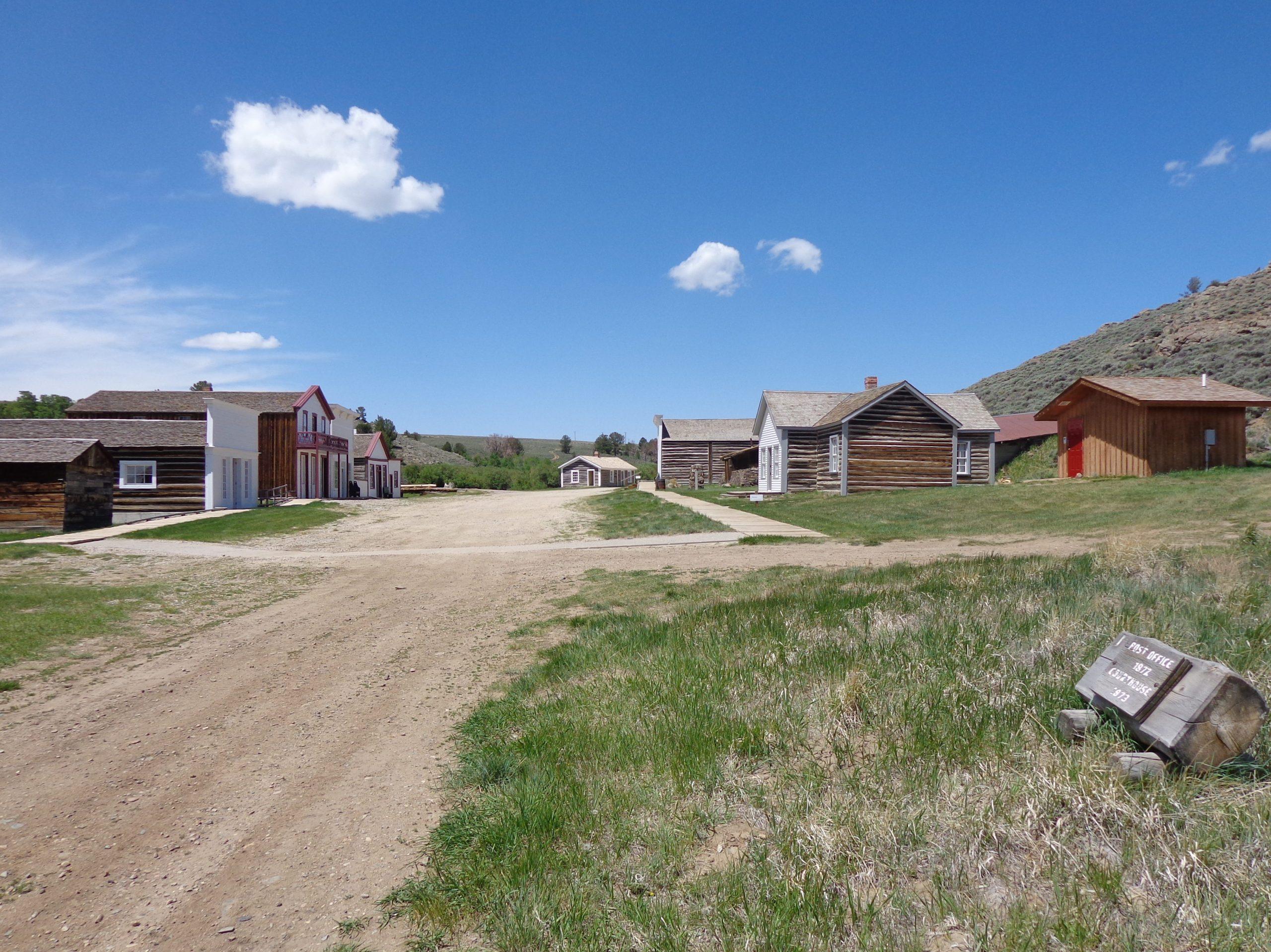 Het centrum van South Pass City