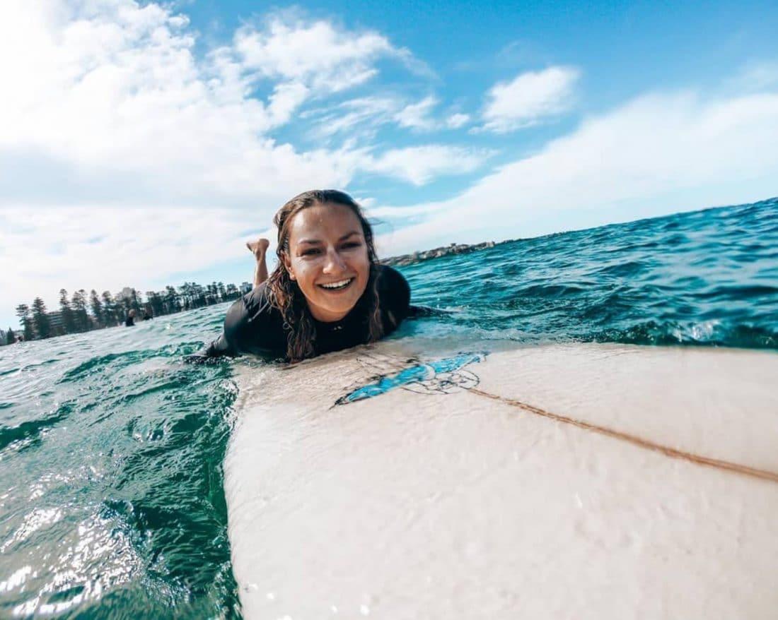 Lianne is blij, we hebben een studentenvisum in Australië aangevraagd!