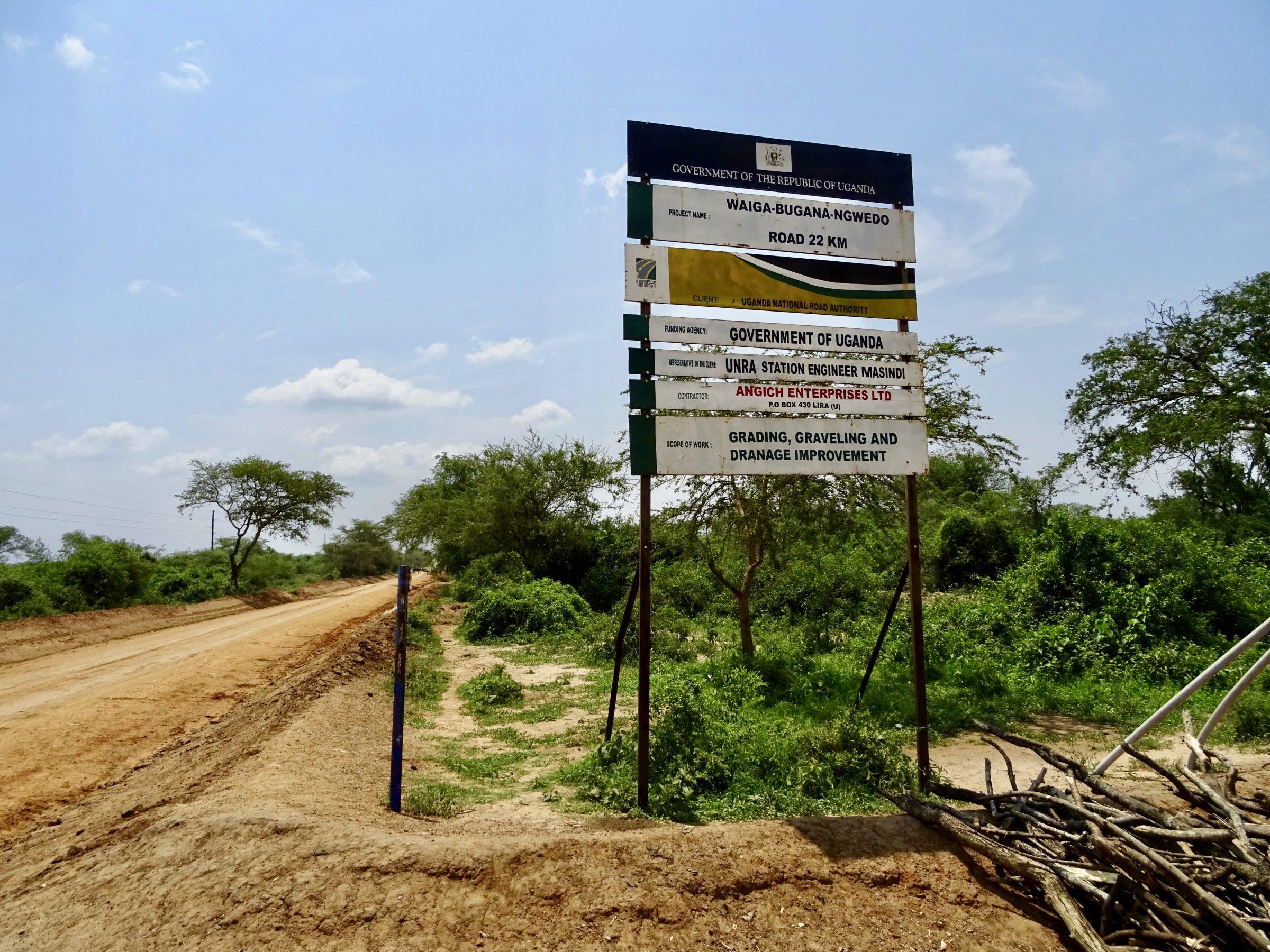 Aankondiging in 2017 van de aanleg van een asfaltweg naar Murchison Falls NP