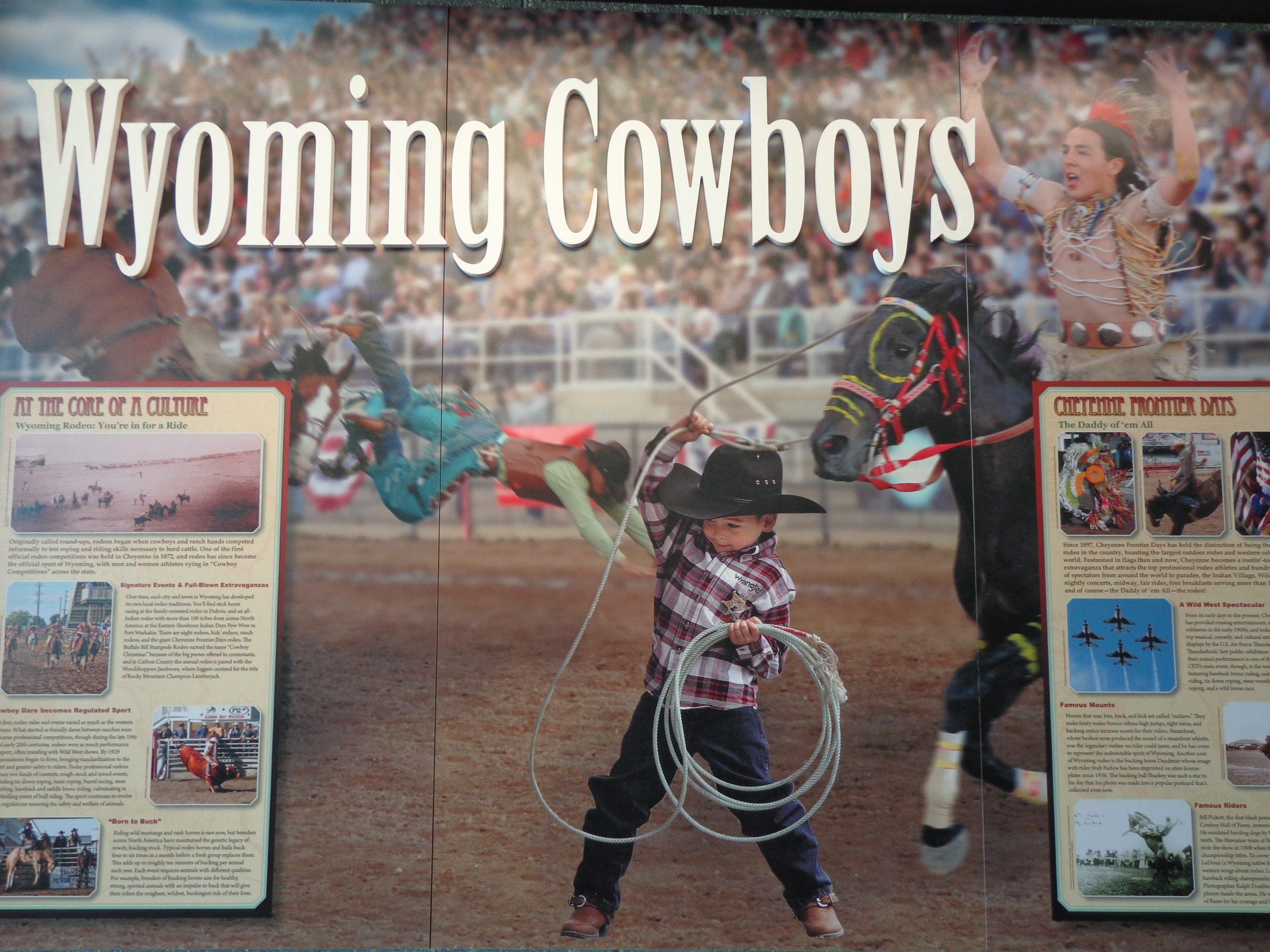 Wyoming staat bekend als de Cowboy State